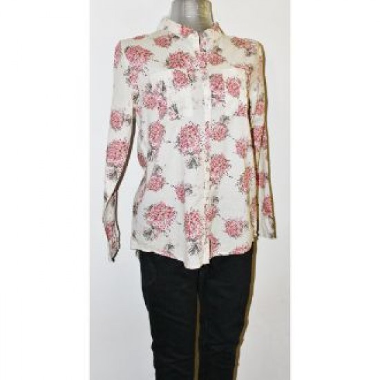 Outfitter Cream Colour With Beautiful Flower Design Shirt
