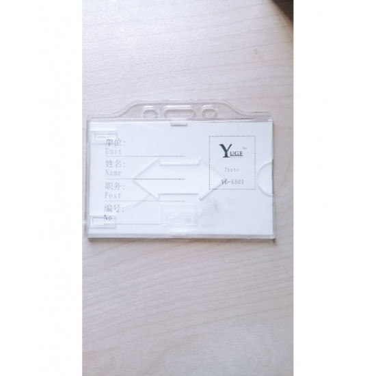 (PACK OF 20) Id Card Cover - Transparent