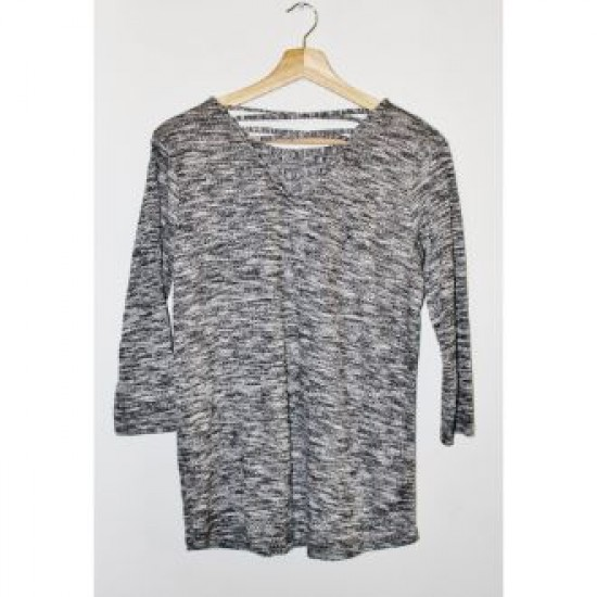 Outfitter Black & Gray Top For Ladies