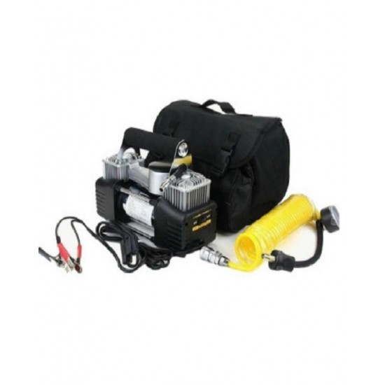 12V Car Compressor Heavy Duty Pump Pam Tayar Kereta Double Cylinder Up To 2 Tan