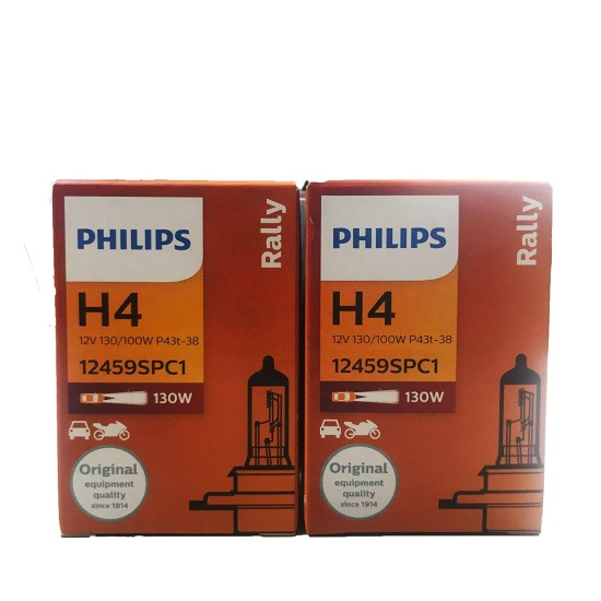 Philips Rally H4 Headlight Bulb (130/100W, 2 Bulbs)