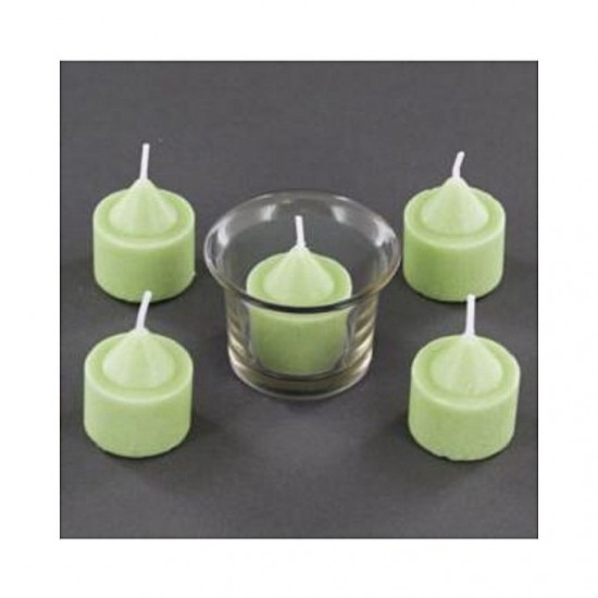 Pack Of 8 - Apple Scented Tea Light Candles - Green