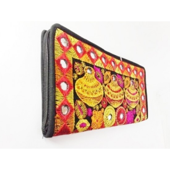 Handmade Embroidered Clutch for Women