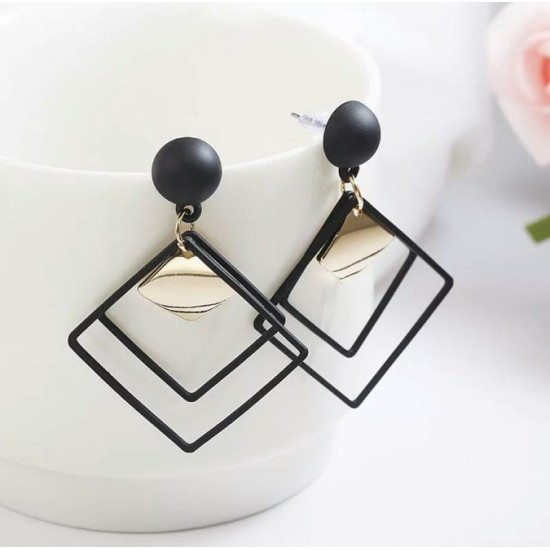Korean Fashion Hollow Square Drop Earrings - Women Jewelry - Fresh & Limited Stock
