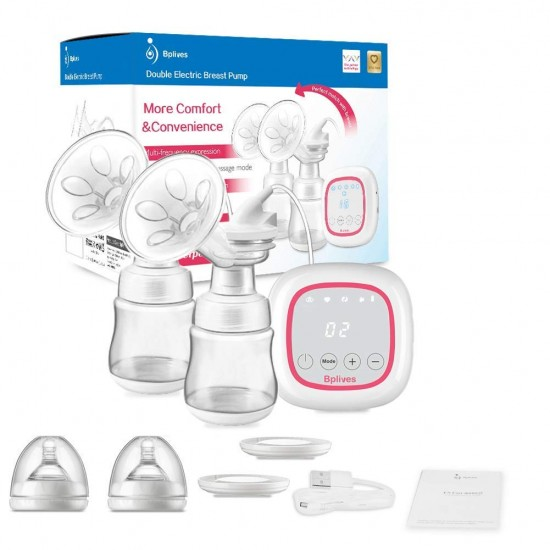 Electric Breast Pump, Opoway Portable Breast Pump BPA-Free Automatic Breast Pump Rechargeable Breastfeeding Pump with Adjustable Massage and Suction Level, Backflow Protector