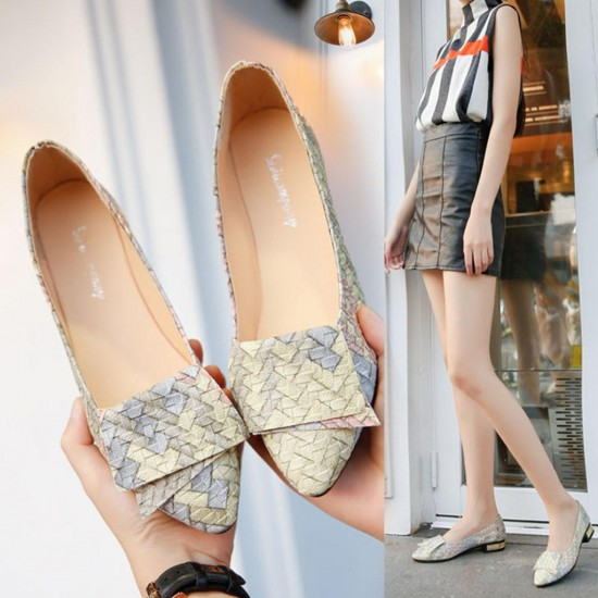 Women Girl Spring Mixed Colors Casual Shoes Female Pretty Flat Shoes