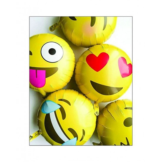 Emoji Foil Balloons 1- Pcs - Golden - 16 Inches