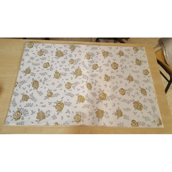 (Pack Of 12) Wrapping Paper Sheet -White&Light Grey With Attractive Design