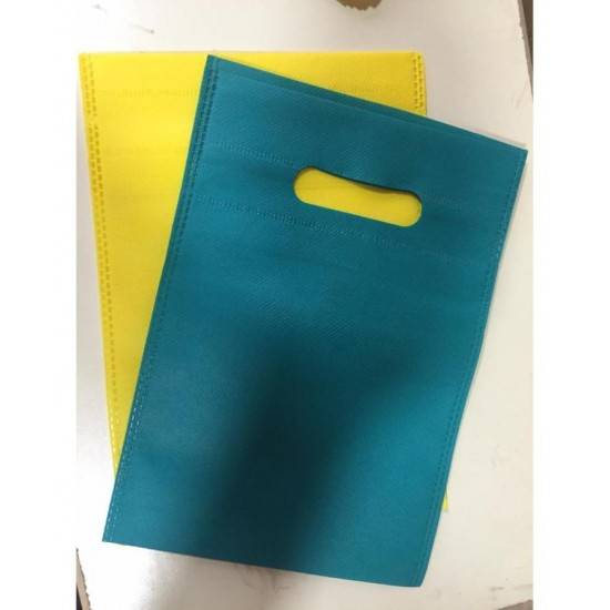 (Pack of  6) Thick Gift Bags - Green And Yellow