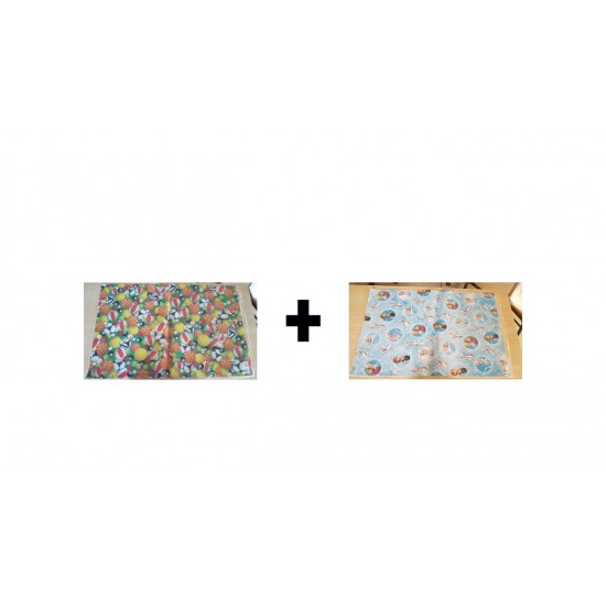 (PACK OF 2) (DAZZLE Wrapping Paper Sheet) - Multi Colours- With Attractive Design