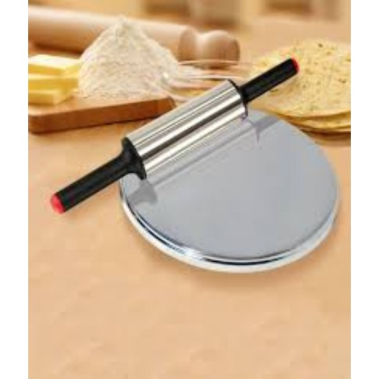 Stainless Steel Rolling Pin & Dish With Stand