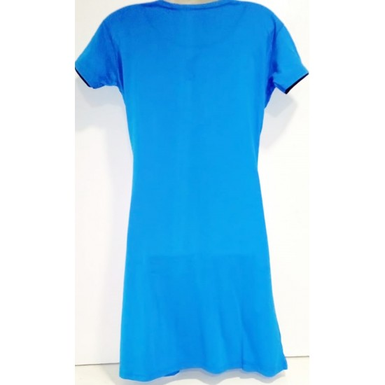 1 Pcs Ready to Wear Short Shirt For Women-Blue and Black