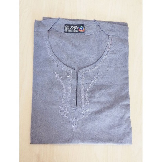 Medium size Cotton Kurta for Men - Grey