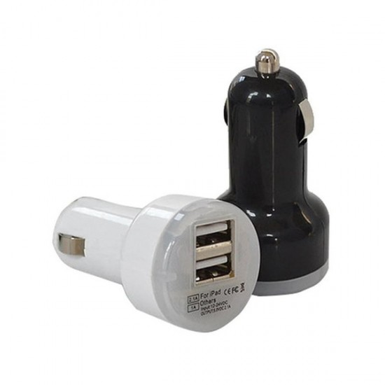 ( Pack of 2 )Mini Dual USB Car Charger Adapter Bullet Double USB 2-Port
