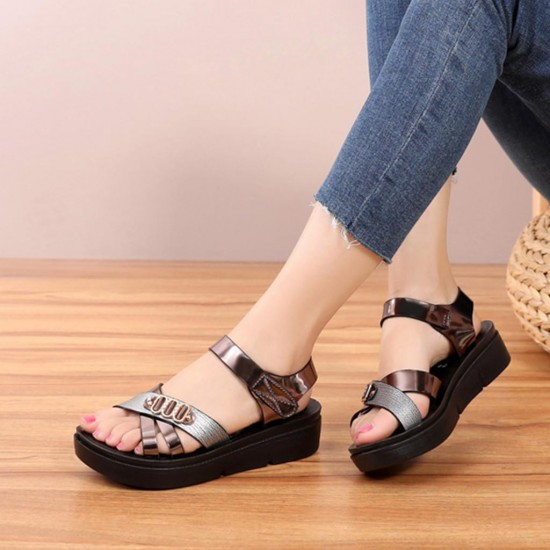 Women Ladies Summer Fashion Leather Sandals