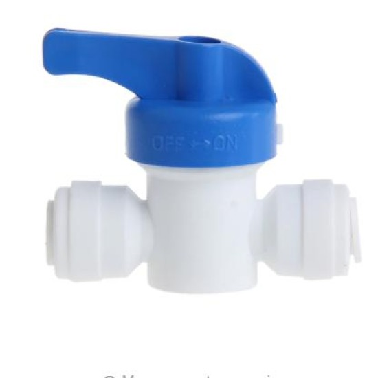 6mm Ball Valve Connector Plastic For Domestic RO Water Filtration System Push Fit Pipe System