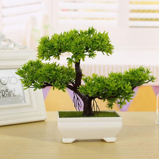 Green Artificial Bonsai Decorative Flowers Plants best for Home and office Decor