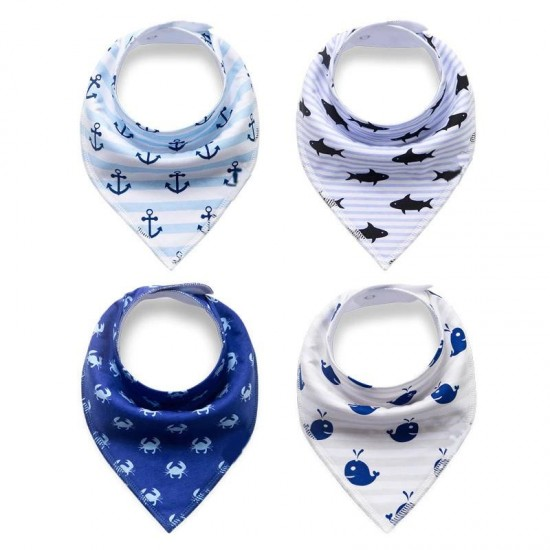 Pack of 3 - Premium Quality Branded Bandana Bibs For New Born Baby Baba Soft Cotton Bibs For Babies Absorbent Scarf Baby Boutique For Kids Multicolor
