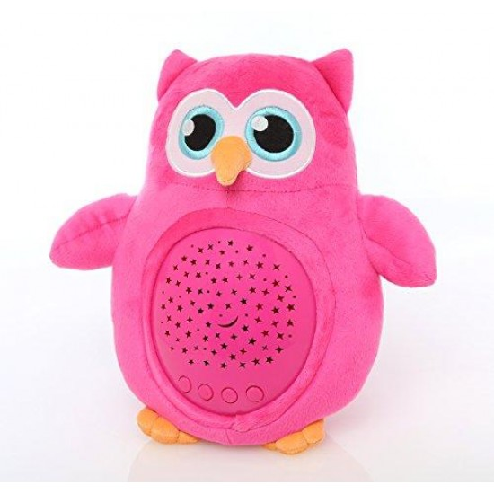 Lil Jumbl Kids Nightlight Stars-and-Sounds Soothing Owl Projector (Pink) toy