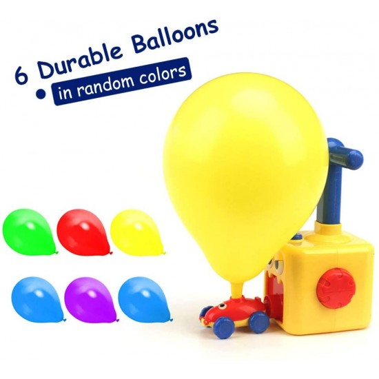 Portable Electric Pump Blow Balloon Inflation Machine Hit with Dual Nozzles Blower for Party/Birthday Decor,Balloon Powered Cars Balloon Racers Aerodynamic Cars Stem Toys Party Supplies Preschool Educational Science Toys with Manual Balloon Pump for Kids.