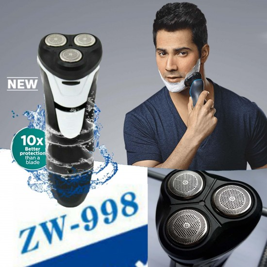 ZHENWEI Brand Electric Shaver 3 Head Flex Dry Wet Shaving Washable, Wet and Dry Mens , Electric Razor , wet shaver, water proof shaver.
