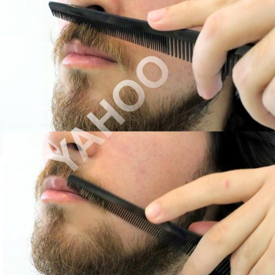 MUSTACHE TRIMMING Beard Styling Shaping Comb Trim Tool Perfect for Lines and Symmetry A Must Have Saving Tool Mustache Styling Detangling Straightening For Beard Comb