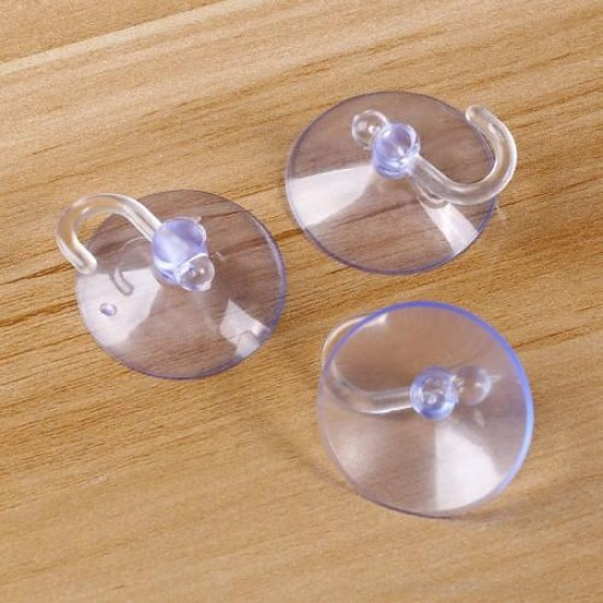 Glass Tile Mounted Suction Cup Hook Hanger - 5 Pcs 5cm